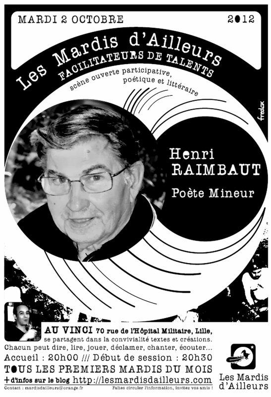 Les Mardis d' ailleurs au Vinci de Lille avec Henri Raimbaut