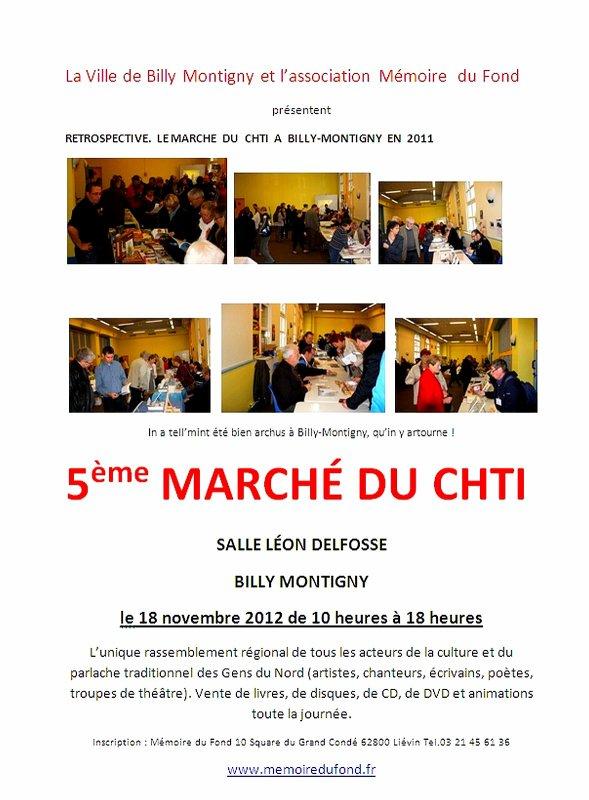 5ème marché du ch' ti le 18 novembre 2012 à Billy Montigny