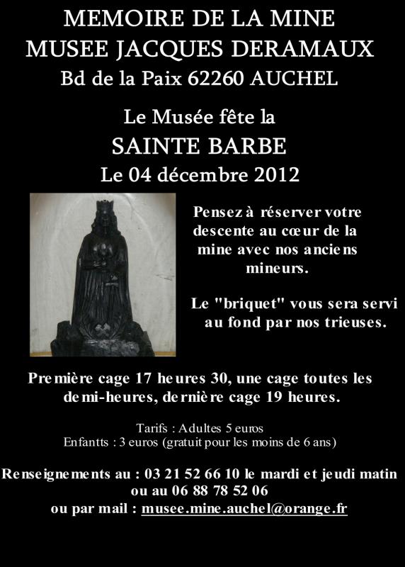 Sainte Barbe au musée de la mine Jacques DERAMAUX d'Auchel
