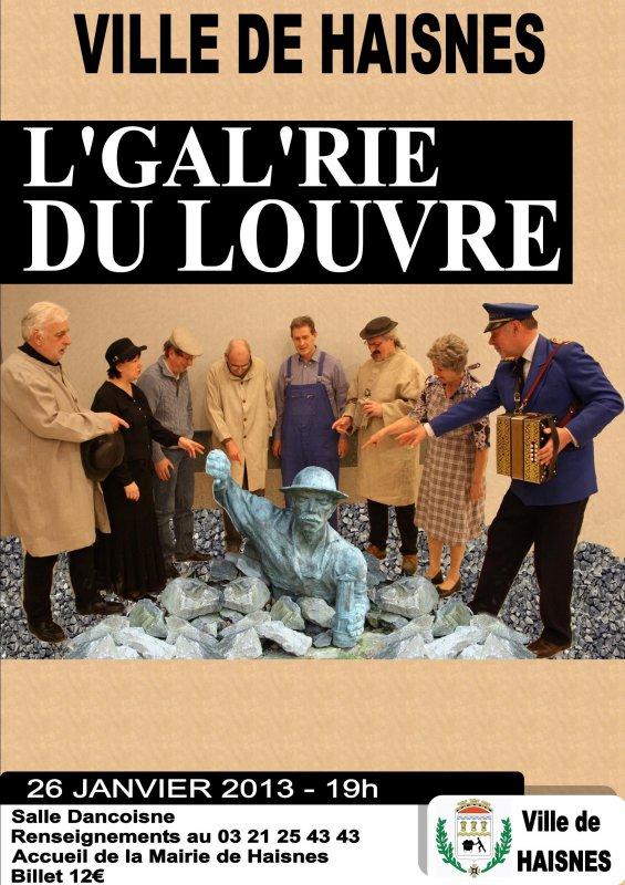 """Spectacle patoisant """" L' galerie du Louvre """" à Haisnes le 26 janvier à 19h"""