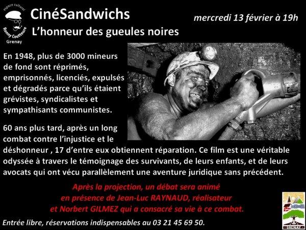 L' honneur des gueules noires à Grenay à travers CinéSandwichs