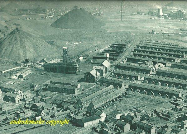 Fosse 2 des mines de Drocourt à Rouvroy