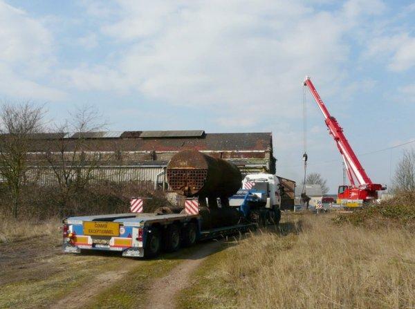 Sauvegarde des anciennes chaudières des ateliers centraux de Bruay sur le site de de l'ancienne fosse 10 de Billy Montigny.