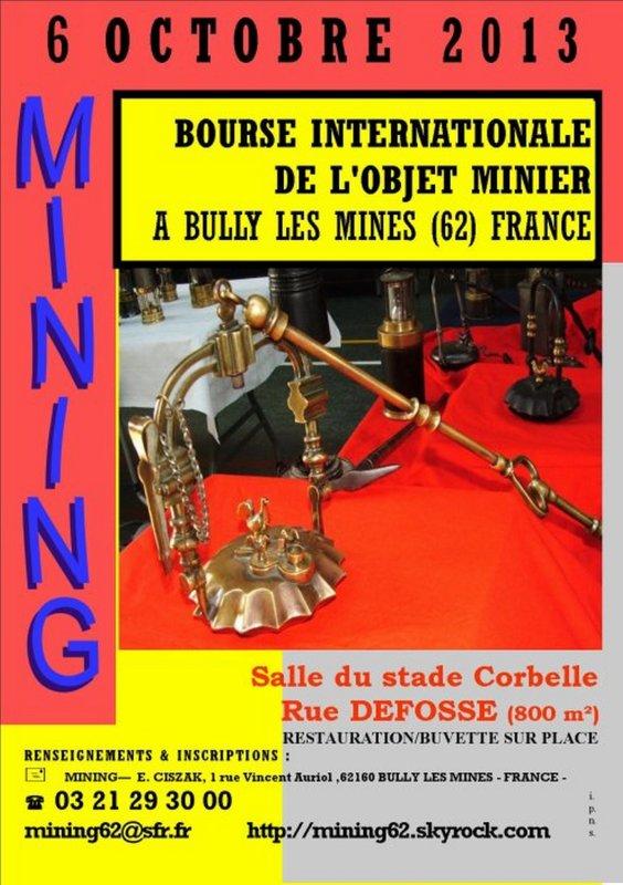 Mining de Bully les Mines - 12ème salon international de l' objet minier