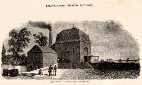 La Compagnie des mines d' Anzin en 1847 - La fosse Saint Louis
