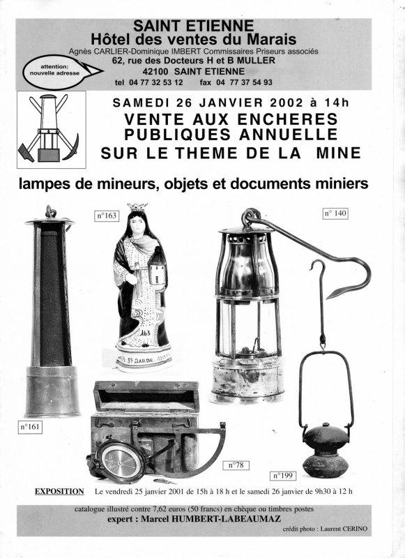 Au temps des ventes aux enchères d' objets miniers à Saint Etienne - 1