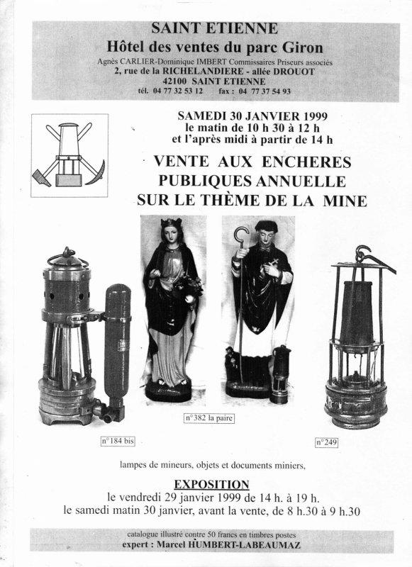Au temps des ventes aux enchères d' objets miniers à Saint Etienne - 3