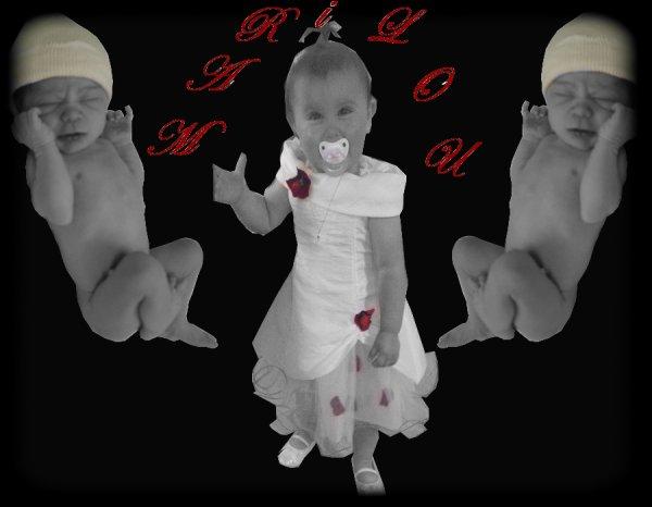 Ma nenette foto de ca naissance et maintenant!
