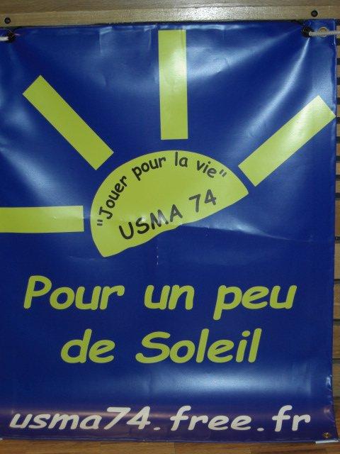 Le logo de l'USMA 74