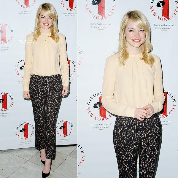 15.05.2013  • Emma était au déjeuner pour l'association Gilda's club dont elle est l'ambassadrice.
