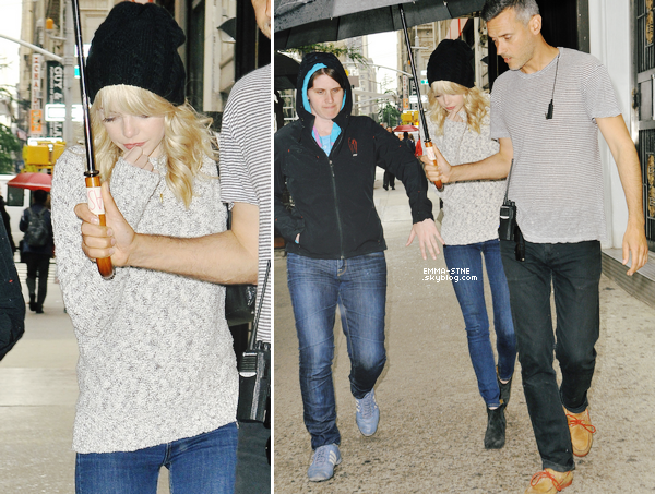 28.05.2013 : Plus belle que jamais, Emma a rendu visite à Andrew sur le set de TASM 2 !