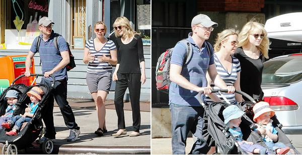 05.06.2013 : Emma était en compagnie du frère d'Andrew ainsi que sa femme et leurs jumeaux.
