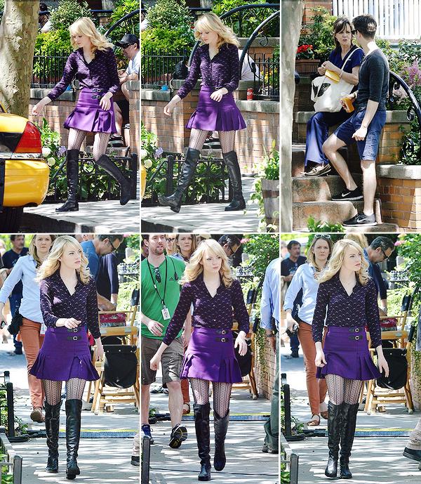 12.06.2013 : Emma, Andrew et Sally Field étaient sur le tournage de The Amazing Spider-Man 2.