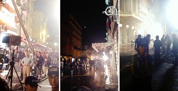 . . ___TOURNAGE___ _-_--___Cette semaine ou la semaine dernière (enter le 08 et 17 juillet ) on a pu constater  __________que  le _tournage - du film- de Woody Allen -a bien _commencé -dans le sud de la France à Nice. -Ces photos _  __________proviennent _de -twitter- et de_ tumblr. On- ne- voit pas- Emma ( mais certain pense- que c'est elle sur la vidéo.. )  __________Mais -bon j'attend -de vrais photos car -là on voit -presque -rien. _Emma ne sera donc pas au Comic Con avec  __________Andrew pour présenter The Amazing Spider-Man 2.  Je -suis -déçu car- elle -fait pas- beaucoup d'apparition !