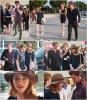 21.07.2013 : Emma, Andrew et Colin Firth étaient au concert Jazz de Woody Allen à Nice hier.