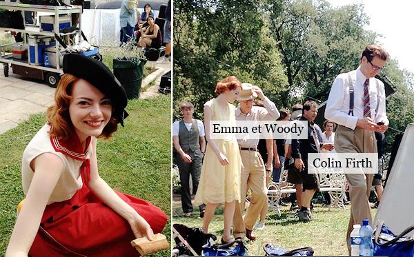 25.07.2013 : Voici les premières photos d'Emma sur le set du film de Woody Allen en France. Elle est tellement belle, une vrais petite française. Ces robes sont sublimes, j'ai hâte d'en voir plus.