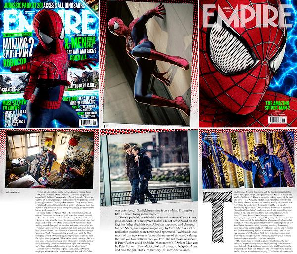 Découvrez des nouveaux stills de TASM 2 dans les scans pour Empire Magazine !