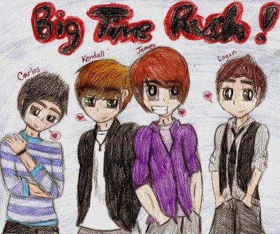 big time rush : jles adores ! jlai ai meme dessiner