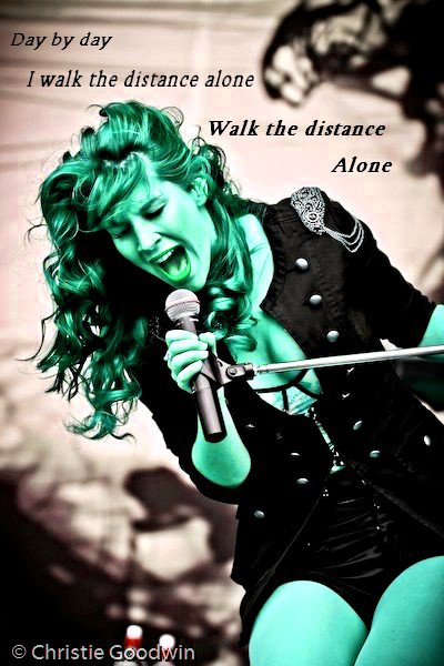 """Day by day, I walk the distance alone"" (Electricity-Delain)"