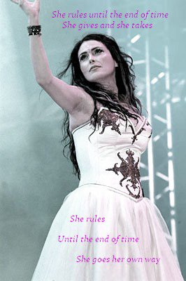 """She rules until the end of time, she gives and she takes"" (Mother Earth-Within Temptation) Happy Birthday Sharon :)"