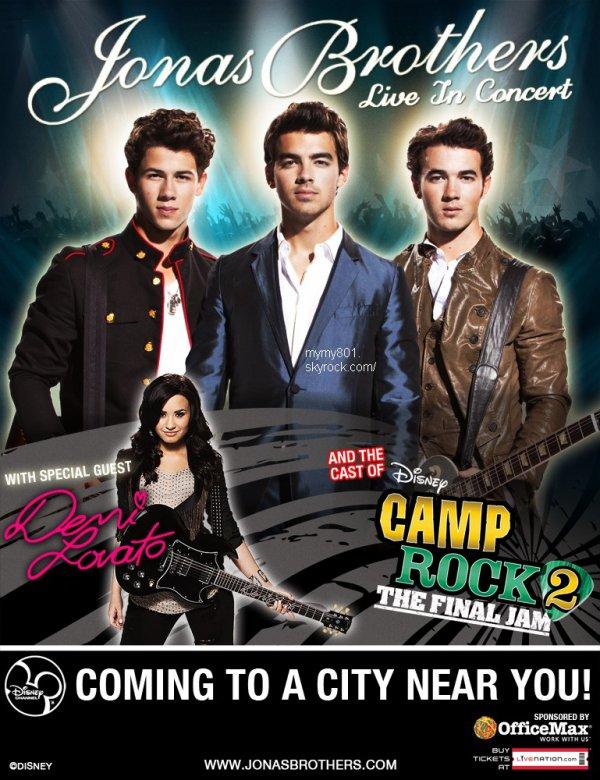 Demi et les  Jonas Brothers  en Tournée