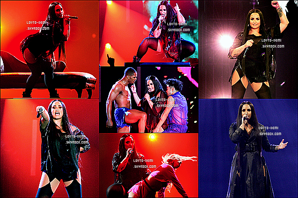* 16/06/18 :    Demi L. a donné un concert pour sa tournée - « Tell Me You Love Me Tour » qui avait lieu à Manchester Demi Lovato est toute sublime. J'aime beaucoup les photos, elles sont jolies. Ses tenues de scène sont toujours aussi superbes. Je lui mets donc un Top.  *