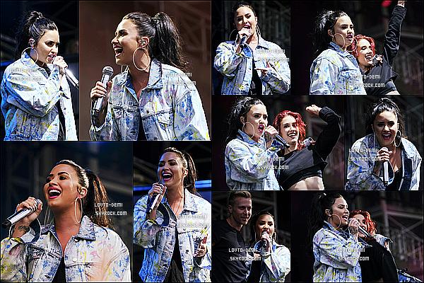 * 09/06/18 :    Demi performait lors du « Summer Saturday Live » - se déroulant au Newmarket Racecourse à Suffolk. Demi enchaîne les concerts aujourd'hui. Elle est toujours aussi sublime. Elle porte la même tenue que précédemment vu que c'est la même journée. Top.  *