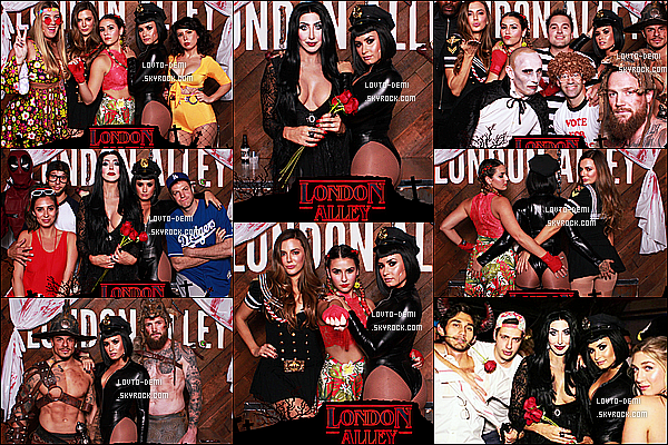 * 31/10/17 :     Demi s'est rendue à la soirée d'Halloween organisée par la société « London Alley » - dans Los Angeles. Demi était déguisée en policière sexy. Elle est sublime. Je trouve que sa tenue est trop osée mais sinon ça lui va bien. Je lui donne quand même un Top.  *