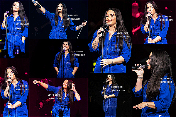 * 09/02/18 :    Demi L. était présente à l'événement « American Airlines & MasterCard » au House Of Blues à Dallas. Demi a également performé lors de cet événement. Demi est ravissante. J'aime bien les deux tenues qu'elle porte, surtout la première. Ce sont des Tops.  *