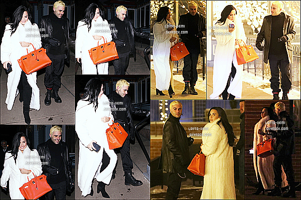 * 02/01/19 :    Demi a été aperçue lorsqu'elle quittait un restaurant avec son copain Henri - à Aspen, dans le Colorado. Demi est très belle et souriante. Ca fait plaisir de la voir comme ça, elle à l'air vraiment heureuse avec Henri. J'aime bien la tenue qu'elle porte. Donc Top.  *