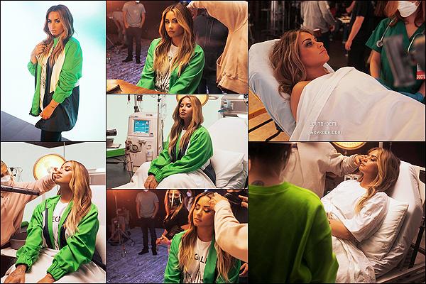 * * '-Behind The Scenes ●-  Demi L. sur le tournage du clip vidéo «Dancing With The Devil ». *