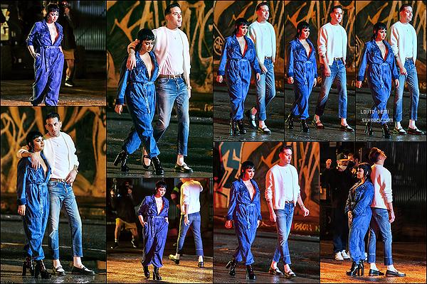 * '•-10/06/21 ─-' Le lendemain, Demi était une fois de plus sur le tournage du clip avec G-Eazy - se déroulant à Los Angeles. Demi tournait de nouvelles scènes pour le clip cette fois-ci de nuit. Encore une fois je suis fan de la tenue qu'elle porte. Je lui mets un Top *