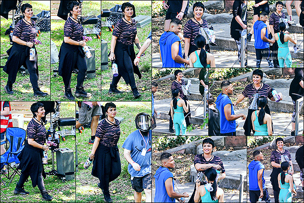 * '•-14/07/21 ─-' Demi Lovato a été aperçue quand elle était sur un plateau de tournage dans la ville de Los Angeles, en CA. Nous n'avons pour l'instant pas plus d'informations concernant ce tournage. Demi est très belle. J'aime bien la tenue qu'elle porte. Un Top *