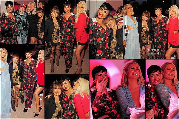* '•-05/08/21 ─-' Demi L. a assisté à la projection de l'émission « Cooking With Paris » qui avait lieu dans Los Angeles, CA. Demi était présente lors de la première diffusion de l'émission de cuisine de Paris Hilton. Demi est magnifique. J'aime beaucoup sa tenue. *