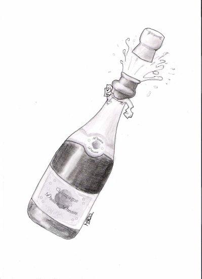 Bouteille De Champagne Dessin une bouteille de champagne - rêves dessinés