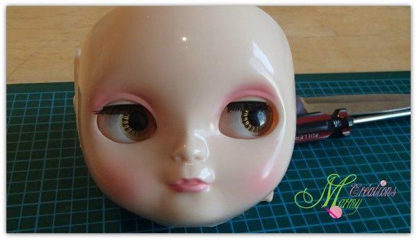ma deuxième poupée en phase de transformation