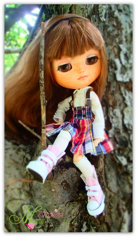 Voici Rose, ma toute première poupée Blythe que j'ai transformé !