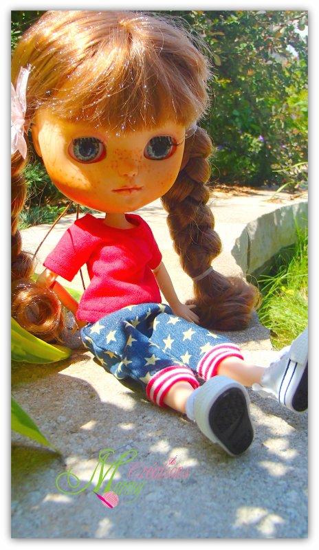 Autour de Rosie de faire la mannequin pour vous montrer son linge...