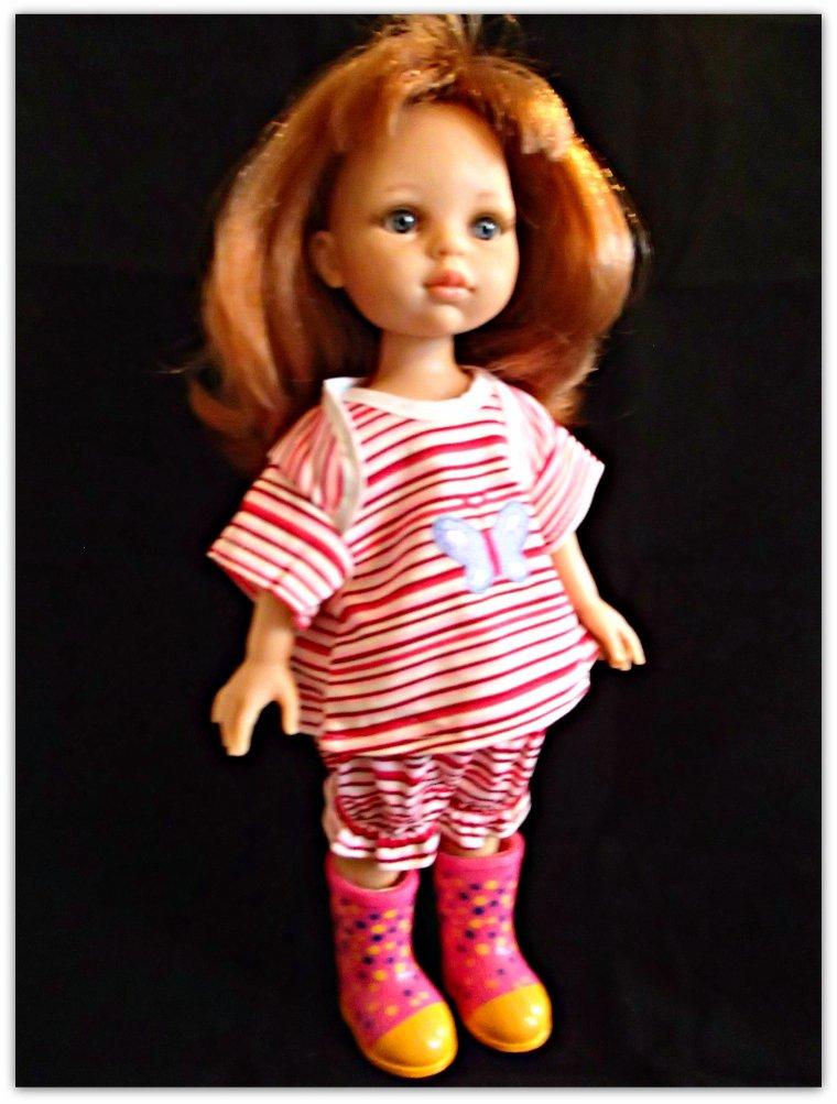 Paola Reina habillée avec linge de Wellie Wishers de American girl