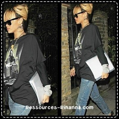 Rihanna aperçue dans Londres .   TOP ou FLOP ?