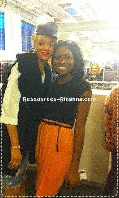 Rihanna au siège social de River island , un magasin de vêtements anglais . TOP OU FLOP ? + interview de Riri sur le film battleship .