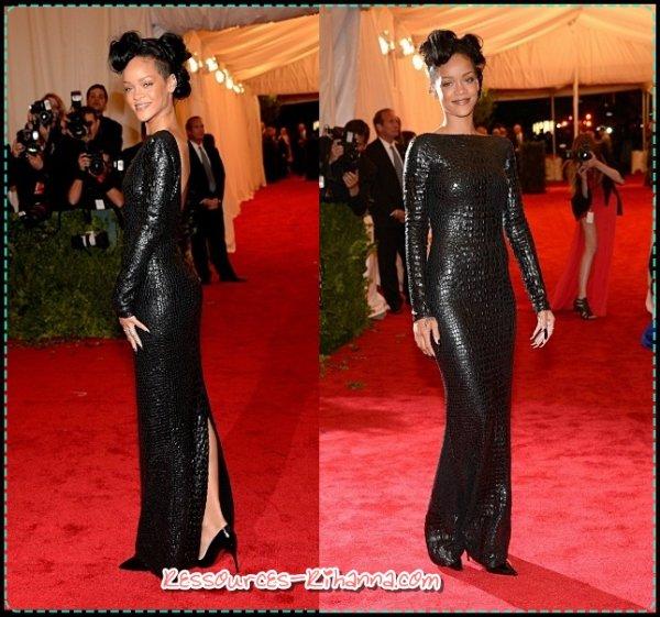 Rihanna au Met Ball 2012 + instagram