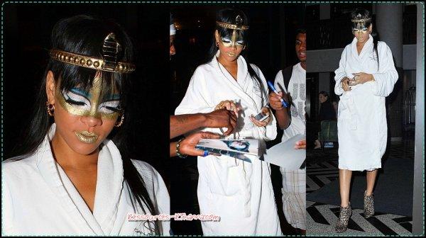 Rihanna à participé au gala de Robin Hood + Rihanna quittant son hôtel à NY + performance de Riri + Rihanna au Giorgio Baldi .
