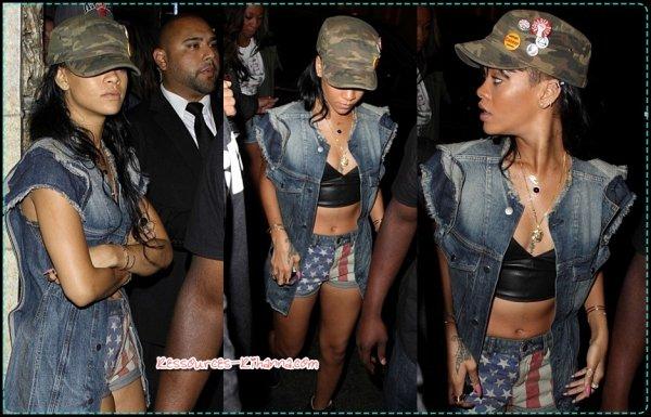 Rihanna quitte le restaurant Giorgio Baldi + Rihanna quittant la boite de nuit Roxbury + Rihanna quitte LA + Rihanna à Londres