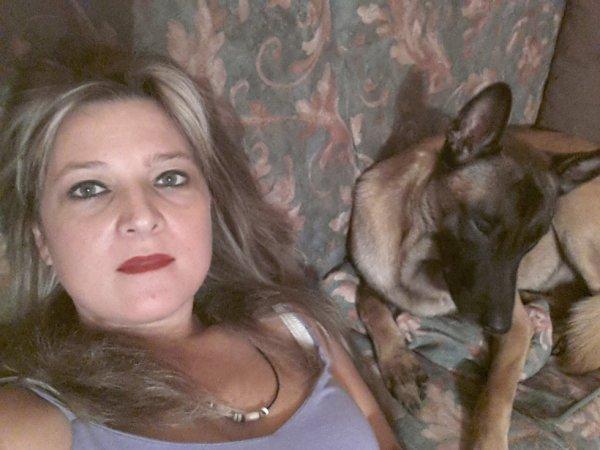 moi et mon bébé dark mon malinois