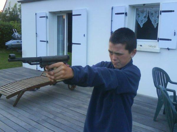mwàa o pistolet a plomb