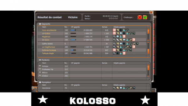 Record XP/TEMPS Kolosso