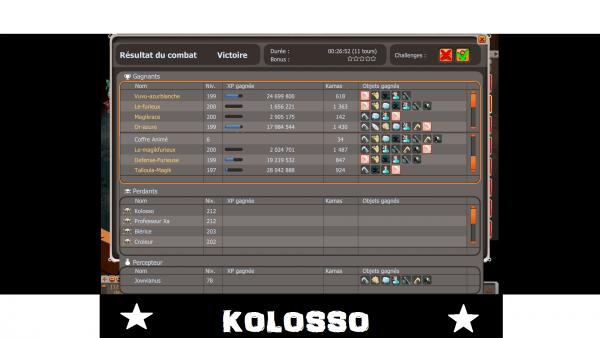 Record XP/TEMPS Kolosso