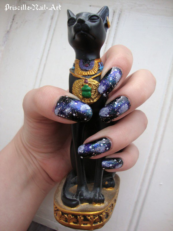 Nail Art Galaxy Ongles Longs