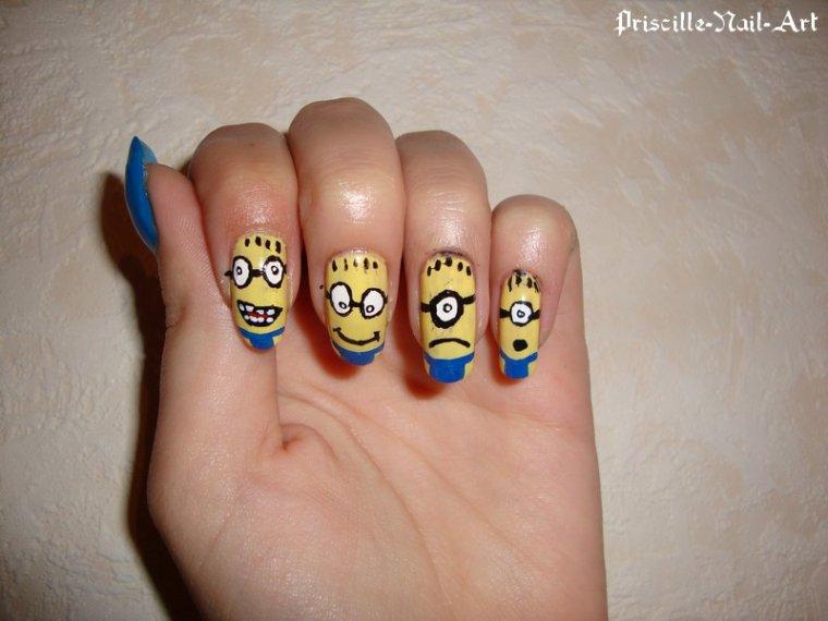 Nail Art Minions Moi Moche et Méchant